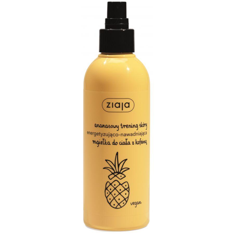 ananasowa energetyzująco - nawadniająca mgiełka do ciała z kofeiną.
