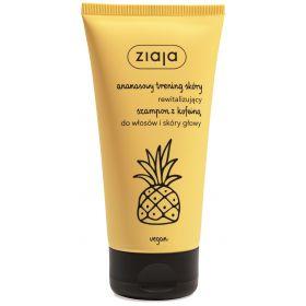 ananasowy szampon z kofeiną do włosów i skóry głowy.
